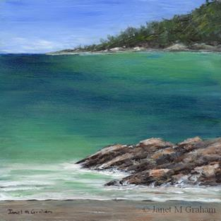 Art: Tranquil Sea by Artist Janet M Graham
