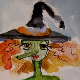 Art: Aceo Witch by Artist Delilah Smith