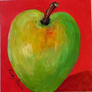 Art: Green Apple by Artist Ulrike 'Ricky' Martin