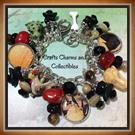 Art: Witches Den, Altered art charm bracelet by Artist Lisa  Wiktorek