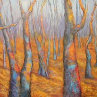 Art: Technicolor Forest by Artist Virginia Ann Zuelsdorf