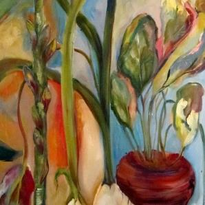 Art: Tulips and Roots by Artist Delilah Smith