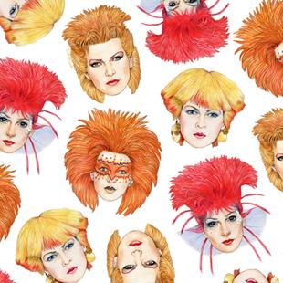 Art: Four Faces of Toyah by Artist Mark Satchwill