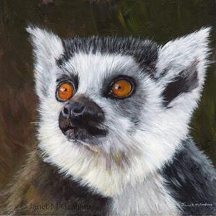 Art: Lemur by Artist Janet M Graham