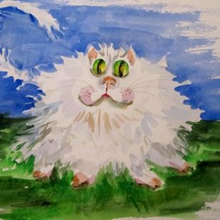 Art: Irish Cat by Artist Delilah Smith