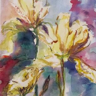 Art: Yellow Iris by Artist Delilah Smith