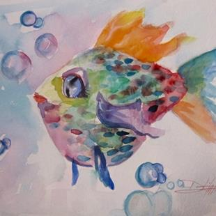 Art: Bubbles the Fish by Artist Delilah Smith