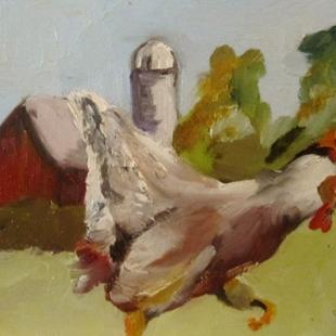 Art: Farm Chicken by Artist Delilah Smith