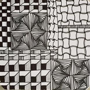 Art: Zentangle Inspired Art by Artist Ulrike 'Ricky' Martin