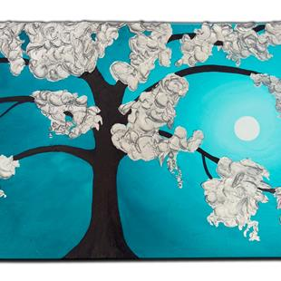 Art: TURQUOISE HAVEN by Artist Kate Challinor