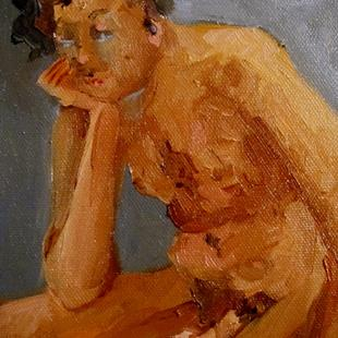 Art: Male Nude-sold by Artist Delilah Smith