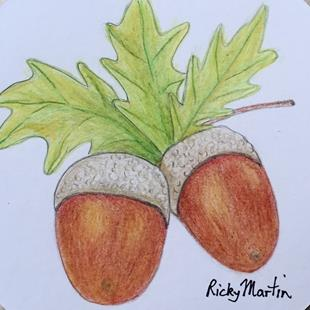 Art: Acorns by Artist Ulrike 'Ricky' Martin