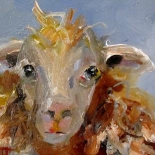 Art: Shaggy Sheep No.4 by Artist Delilah Smith