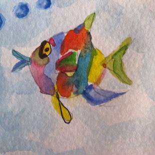 Art: Tropical Fish-sold by Artist Delilah Smith