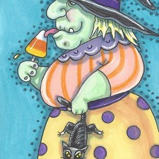 Art: WITCH LICK'IN GOOD by Artist Susan Brack