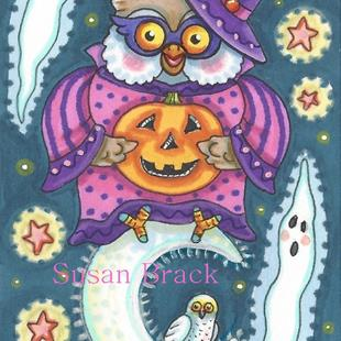Art: SPOOKS AND HOOTS by Artist Susan Brack