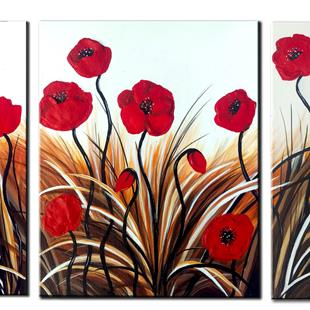 Art: POPPY FIELD by Artist Kate Challinor