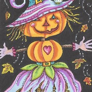 Art: BEWITCHING SCARECROW by Artist Susan Brack