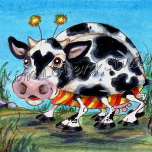 Art: Moo Cow Lady Bug by Artist Kim Loberg