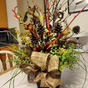 Art: Fall Centerpiece by Artist Vicky Helms
