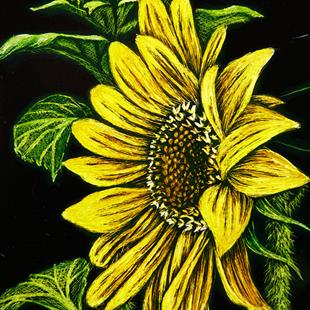 Art: Sunflower  (SOLD) by Artist Monique Morin Matson
