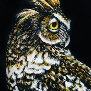 Art: Owl III  (SOLD) by Artist Monique Morin Matson