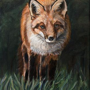 Art: The Fox by Artist Heather Sims