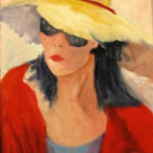 Art: Lady in Sunglasses by Artist Barbara Haviland