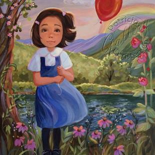 Art: The Red Balloon - Sold by Artist Patricia  Lee Christensen