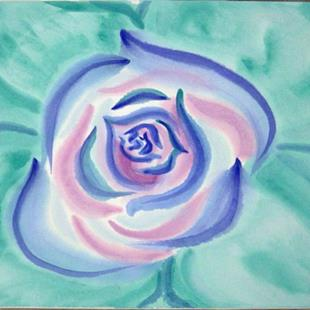 Art: Oriental Blue Rose by Artist Tracey Allyn Greene