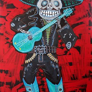 Art: Spirit Of The Mariachi by Artist Laura Barbosa