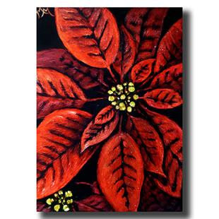 Art: Poinsettia  (SOLD) by Artist Monique Morin Matson