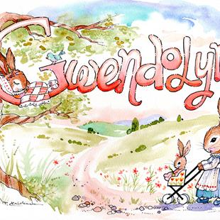 Art: Nursery Name - Gwendolyn - Special Order by Artist Patricia  Lee Christensen