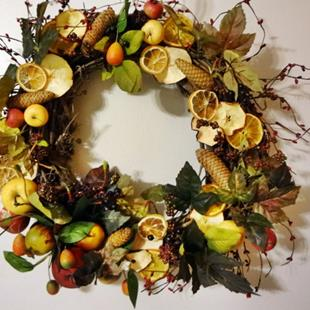 Art: Debbie's Wreath by Artist Vicky Helms