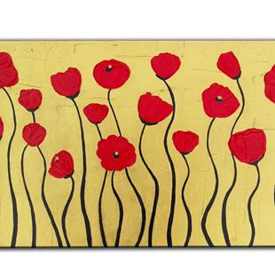 Art: GOLDEN POPPIES by Artist Kate Challinor