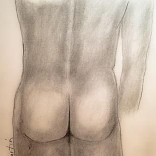 Art: Nude Male by Artist Ulrike 'Ricky' Martin