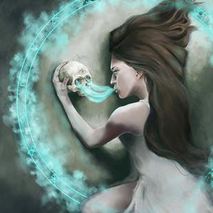 Art: The Bone Oracle by Artist Amanda Makepeace