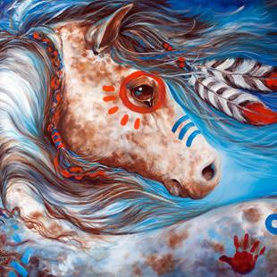Art: INDIAN WAR HORSE ~ STAR by Artist Marcia Baldwin