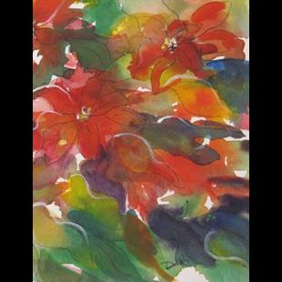 Art: Poinsettia-sold by Artist Delilah Smith