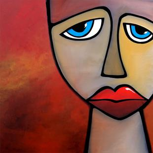 Art: Abstract Art Original Painting Disappointment by Artist Thomas C. Fedro