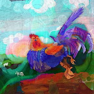 Art: Chicken Dance by Artist Alma Lee