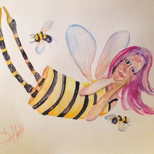 Art: Bumble Bee Fairy by Artist Delilah Smith