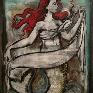 Art: Red the Mermaid by Artist Chris Jeanguenat