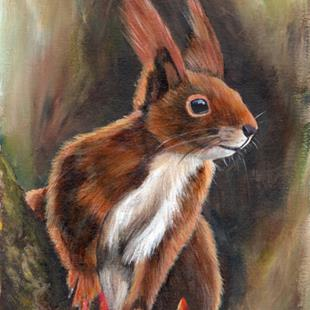 Art: Squirrel by Artist Janet M Graham