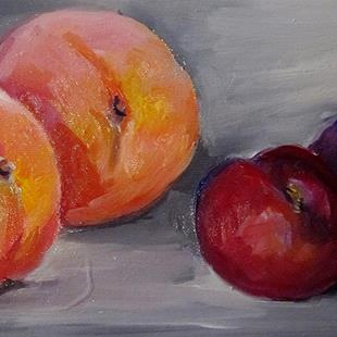 Art: Peaches and Plums by Artist Delilah Smith