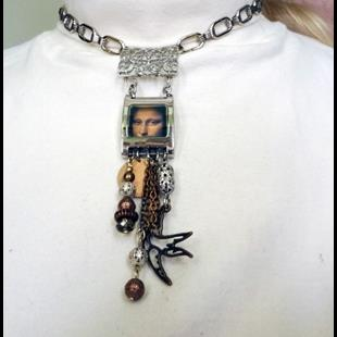 Art: Mona Lisa Necklace.jpg by Artist Vicky Helms