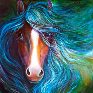 Art: BLUE MOONDUST EQUINE by Artist Marcia Baldwin