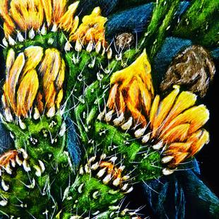 Art: Prickly Pear Fruit - SA97  (SOLD) by Artist Monique Morin Matson