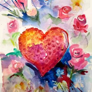 Art: Heart Felt-sold by Artist Delilah Smith