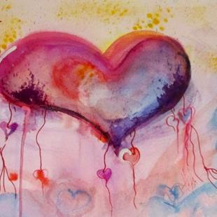 Art: String of Hearts by Artist Delilah Smith